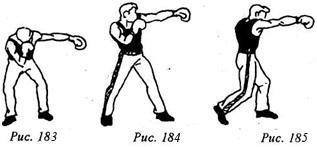 Кикбоксинг. Трехударные серии из прямых ударов.