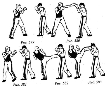 Кикбоксинг. Атакующие комбинационные действия.